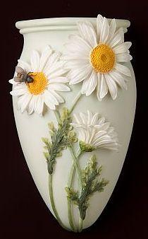 Daisy and Bee Wall Decor/ Wall Vase