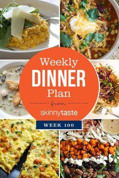Skinnytaste Dinner Plan (Week 100)