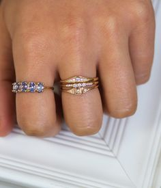 Mini Deco Point Ring - Audry Rose