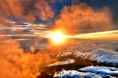 Majestic Sunrise from the Summit of Mount
