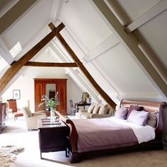 Neutral Country Loft Bedroom Bedroom Decorating Ideas Country