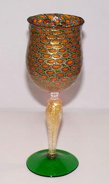 Murano Glass Green Goblet
