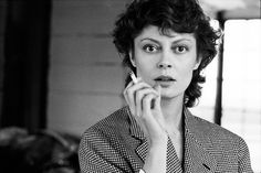 Susan Sarandon, New York, N.Y., 1983.  Vanity Fair Magazine Brigitte Lacombe's photography is an investigation of intimacy.
