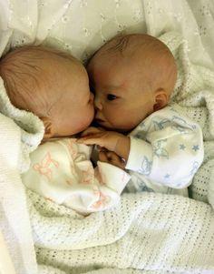 Reborn baby prem preemie Twins lifelike boy girl realistic doll Carly's Cradle   eBay