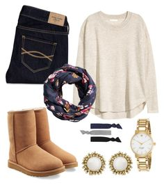"""""""Untitled #179"""" by juilabush ❤ liked on Polyvore featuring H&M, Abercrombie & Fitch, UGG Australia, Kate Spade and Kendra Scott"""