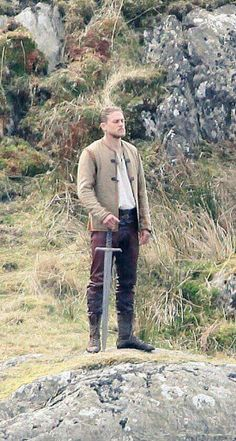 King Arthur / Charlie Hunnam Films 'Knights of the Roundtable' in Wales, United Kingdom