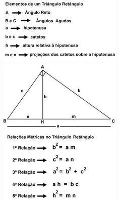 Triângulos Retângulos - Relações Métricas - Geometria - Parte I - Matemática Muito Fácil