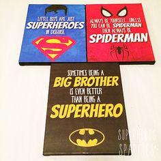 DIY: Superhero Canvas {with FREE Printables}