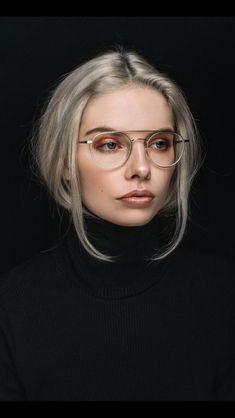 Makeup look w glasses