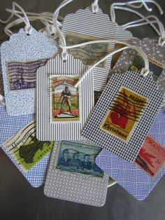 Handmade Gift Tags from Recycled Vintage by MyFanciesHandmade, $7.25 (Etsy shop)