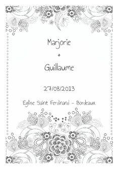 un livret de messe mariage sur le thme vintage rtro champtre en noir et - Exemple De Livret De Messe Mariage