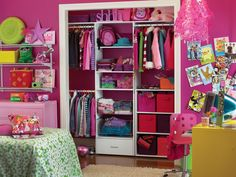 Create a versatile closet that grows with your children, giving them storage space for everything from baby toys to the latest in teen fashion.