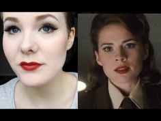 Peggy Carter (Captain America) 40's Cosplay Makeup Tutorial! - YouTube