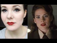 Peggy Carter (Captain America) 40's Cosplay Makeup Tutorial! SHE'S SO CUTE!!