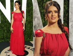 Salma Hayek In YSL – 2012 Vanity Fair Oscar Party