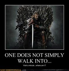Skyrim and Game of Thrones...when involved with both, you can get your worlds confused.