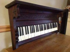 https://www.facebook.com/ReScape.com | Keyboard shelf from antique pump organ!
