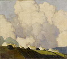 Paul Henry R.H.A. Dooagh, Achill Island, Co. Mayo. Would love to find a print of this.