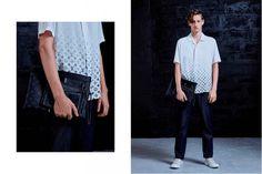 Brand : Louis Vuitton x Fragment photographed by Pieter Hugo - 루이비통 협업 의류라인. 모노톤의 차분함에서 나오는 그래픽적인 요소들이 잘매칭된다. _