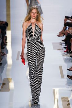 Lauren Laverne on style: black and white. Diane von Furstenberg Spring Summer 2014
