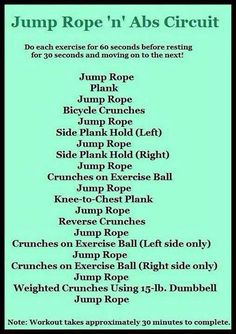 Jump rope abs workout