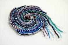 Crystal Galaxy Solar System Bead Embroidered Brooch by beadn4fun