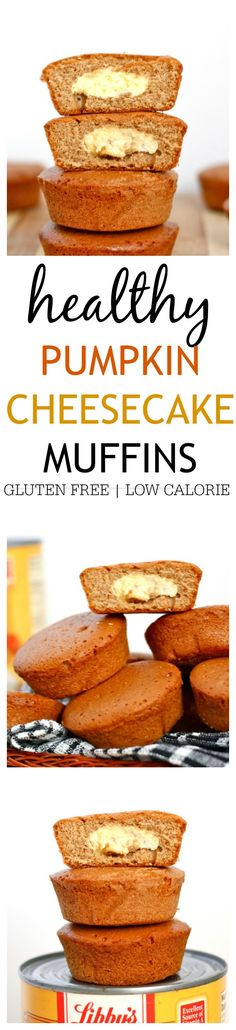 Healthy Pumpkin Cheesecake Muffins- Delicious, impressive yet super simple to whip up! {gluten free, vegan options}