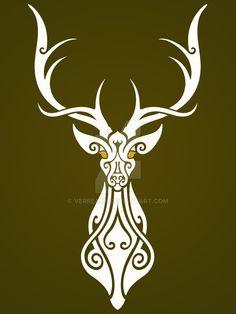 Un dibujo que me gusto hacer inspirado en leyendas celtas A drw than i love to made, based on celt legends