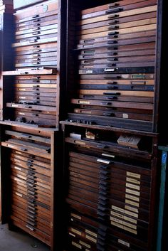 la printers fair drawers and drawers of type by ♥ paper pastries, via Flickr