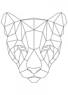 Puma BlackThis marvelous metal poster designed by to add authenticity to your place Display your passion to the whole world. Geometric Drawing, Geometric Shapes, Geometric Animal, Art Drawings Sketches, Cute Drawings, Nature Posters, Geometric Designs, Mandala Art, String Art