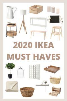 2020 Ikea Must Haves - House of Vedvik Interior Ikea, Scandinavian Interior Bedroom, Scandinavian Style, Interior Design, Küchen Design, House Design, Ikea Must Haves, Ikea Living Room, Budget Living Rooms