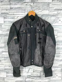 548b5e9e8648 Vintage KANSAI YAMAMOTO Flight Jacket Large Kansai Sport Project Japan  Designer Kansai Man Yohji Black Bomber Coat Rider Jacket Size L