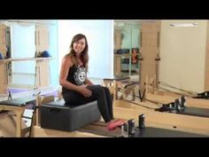 Club Pilates - Seated Hamstring Curls on the Pilates Reformer - YouTube