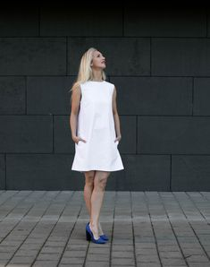 White dress Kate White Dress Summer, Summer Dresses, Weather Day, Cotton Dresses, Fabric, Model, Pattern, How To Wear, Clothes