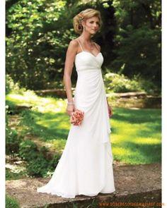 Robe de mariée pas chère avec bretelles fines