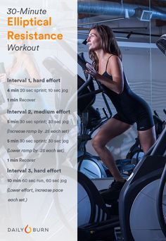 Elliptical HIIT Workout - Resistance Routine