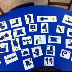 I made these stencils of Egyptian hieroglyphs for some kids.  #stencils #DIY #madethem