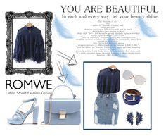 """#romwe"" by lejlaam95 ❤ liked on Polyvore"