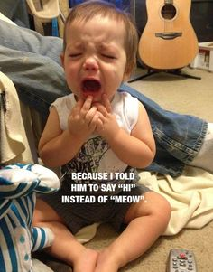 The most ridiculous reasons your kids are crying.and you should grab your camera! Baby Clothes Online, Trendy Baby Clothes, Baby Online, Anxiety In Children, Poor Children, Children With Autism, Having A Baby Meme, Crying For No Reason, Kids Kiss