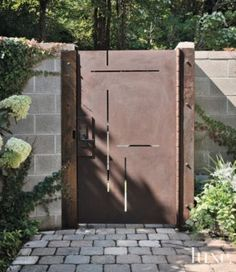 A modern Seattle home's courtyard gate. | See MORE at www.luxesource.com. | #luxemag #interiordesign #design #interiors #homedecor