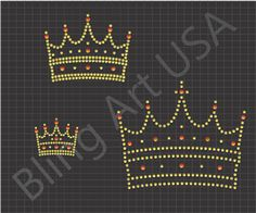 Crown Rhinestone Downloads File Templates Pattern Bling King Stone Stencil Royal System Royalty Easy Power Sticky Flock Ruler Color