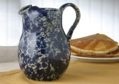 Pitcher Perfect - Made in USA, looks like splatter enamelware