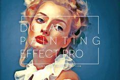Paint Like A Pro With These Digital Painting Photoshop Effects Photoshop For Photographers, Photoshop Photography, Photoshop Effects, Photoshop Actions, Photoshop Design, Photoshop Tutorial, Adobe Photoshop, Art Nouveau, Portraits