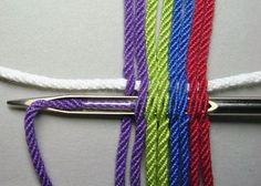 Textiles Techniques, Weaving Techniques, Tapestry Crochet, Knit Crochet, Weaving Art, Hand Weaving, Mochila Crochet, Rainbow Crochet, Yarn Thread