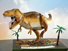 Gravity Defying Dinosaur Cake