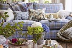 Homes & Interiors - Country Living magazine UK Country Sofas, St Georges Day, Country Living Magazine, All Covers, Decoration, Love Seat, Shabby Chic, Cushions, Throw Pillows
