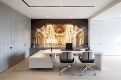 Image 5 of 22 from gallery of Versluys / Govaert & Vanhoutte Architects. Photograph by Tim Van De Velde Corporate Office Design, Corporate Interiors, Office Interiors, Interior Work, Interior Rendering, Office Interior Design, Interior Architecture, Workspace Design, Architectural Elements