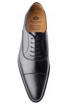 Richelieu Consul Noir pour Homme - Finsbury Shoes