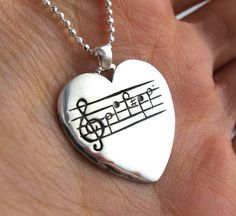 Your Song Heart Guitar Pick Necklace - Heart Necklace - Custom Song Engraving - Valentines - Anniversary Birthday Present - Rickson Music Jewelry, Cute Jewelry, Music Notes, Music Music, Sheet Music, Jewelery, Jewelry Necklaces, Gold Jewellery, Birthday Presents For Her