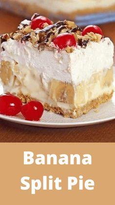 13 Desserts, Pudding Desserts, Summer Desserts, Delicious Desserts, Yummy Food, Layered Desserts, Easy No Bake Desserts, Banana Split Dessert, Banana Split Cake Recipe